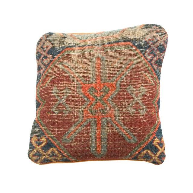 Antique Caucasian Rug Fragment Pillow For Sale