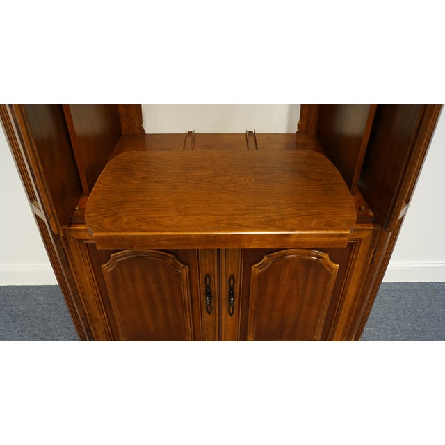 "Vintage Italian Provincial Cherry 41"" Entertainment Cabinet/Media Armoire For Sale - Image 4 of 13"