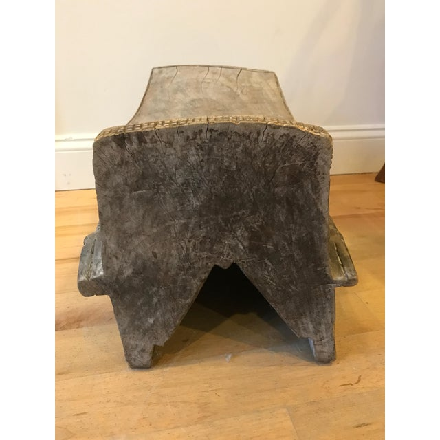 Brown 1960s Vintage African Wooden Crocodile Stool For Sale - Image 8 of 9
