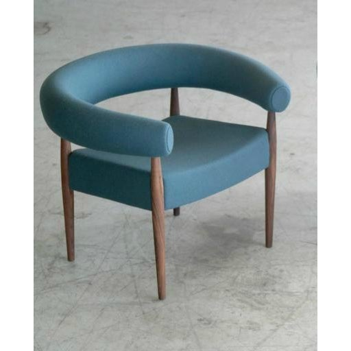 GETAMA Nanna Ditzel for Getama Ring Chairs in Walnut and Wool - a Pair For Sale - Image 4 of 12