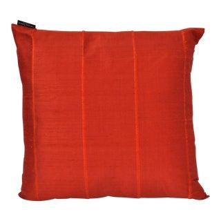 Orange Raw Silk Throw Pillow For Sale