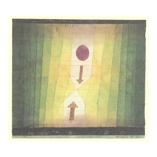 """Paul Klee Before Lightning 15.75"""" X 19.5"""" Offset Lithograph 2018 Abstract Green, Yellow For Sale"""