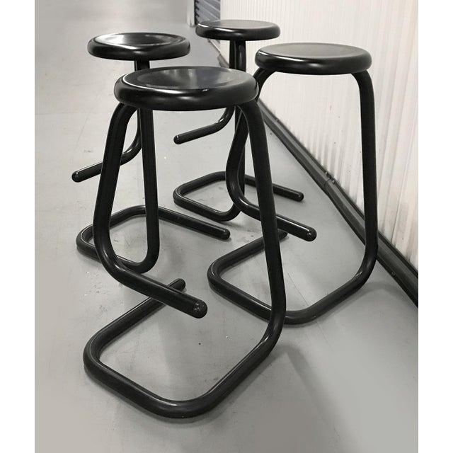 """1970s """"Paperclip"""" Bar Stools by Haworth for Kinetic For Sale In Atlanta - Image 6 of 10"""