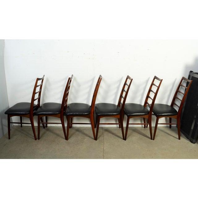 """Koefoeds Hornslet Niels Koefoed for Koefoed Hornslet Danish Modern""""Lis"""" Dining Chairs- Set of 6 For Sale - Image 4 of 8"""