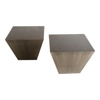 Desiron York Side Tables in Gunmetal For Sale
