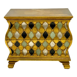 Jamestown Lounge Co. Florentine Giltwood Chest / Side Table For Sale