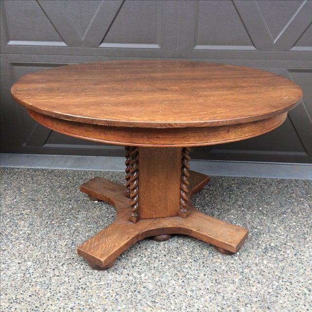 Oak Barley Twist Table - Image 2 of 4