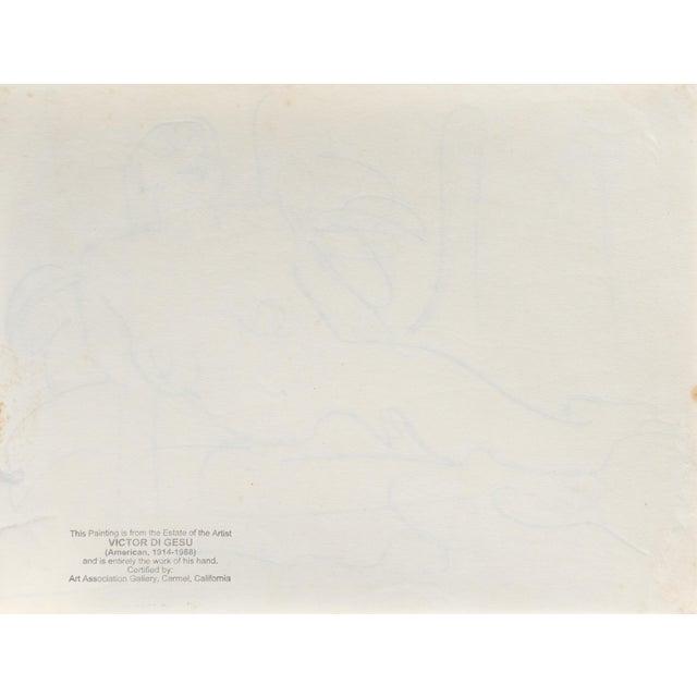 Reclining Nude' by Victor DI Gesu, California Post-Impressionist, Louvre, Paris, Carmel, Lacma, Sfaa For Sale - Image 6 of 7