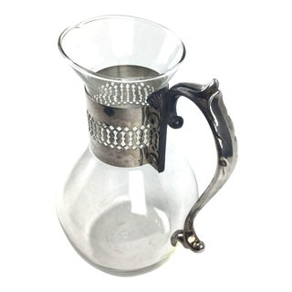 Corning Inc. Glass and Silver Plate Pitcher / Carafe For Sale