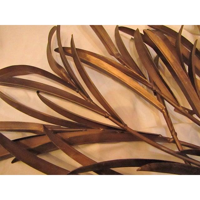 Decorative Bound Leaf Sculptures - Pair - Image 4 of 4