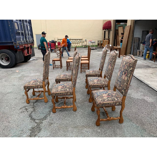 1900 - 1909 1900s Century French Country Louis XIII Style Os De Mouton Dining Chairs - Set of 6 For Sale - Image 5 of 13