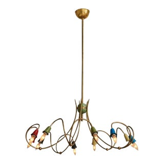Italian Floral Chandelier For Sale