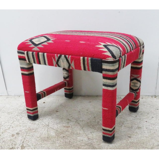 Mid-Century Aztec Parsons Style Stool For Sale - Image 4 of 4