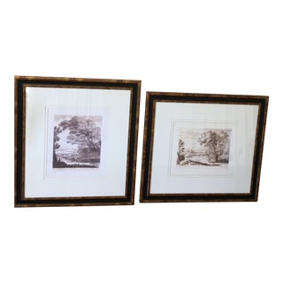 Claude De La Lorrain Framed Prints - a Pair For Sale