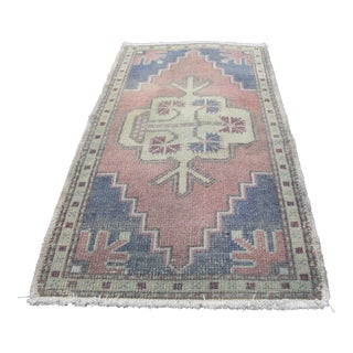 Turkish Vintage Decorative Hand Made Rug - 1′10″ × 3′3″