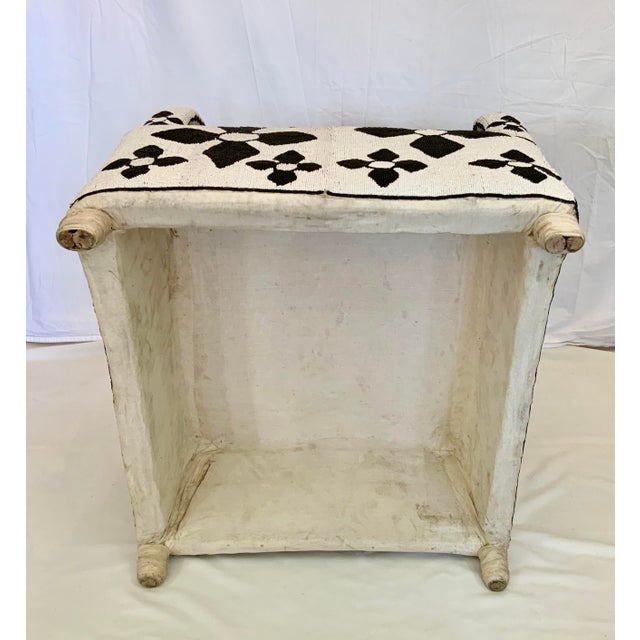 White African Beaded Nobility Chairs Handcrafted by Yoruba Artisans - a Pair For Sale - Image 8 of 13