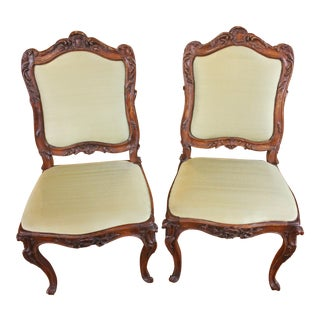 French Rococo Side Chairs- A Pair For Sale