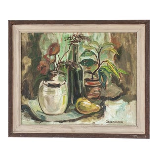 1950s Vintage Still Life Oil Painting by Ethel Showalter For Sale