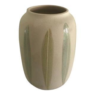 1990s Scheurich Leaf Motif Vase For Sale