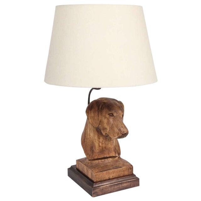 JW Custom Line Carved Dog Lamp For Sale