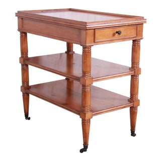 Baker Furniture Milling Road Collection Three-Tiered Pine Nightstand or End Table For Sale