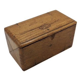 Vintage Wooden Sewing Box For Sale