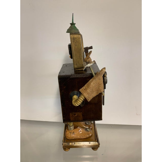 """A wonderful outsider art sculpture by the noted artist Linda Semple. This piece is titled """"Time to Make Something"""". It..."""