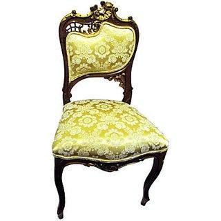 Antique 19th C. Art Nouveau French Side Chair For Sale