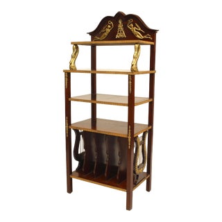 19th Century French Empire Style Bronze-Trimmed Mahogany Étagère For Sale