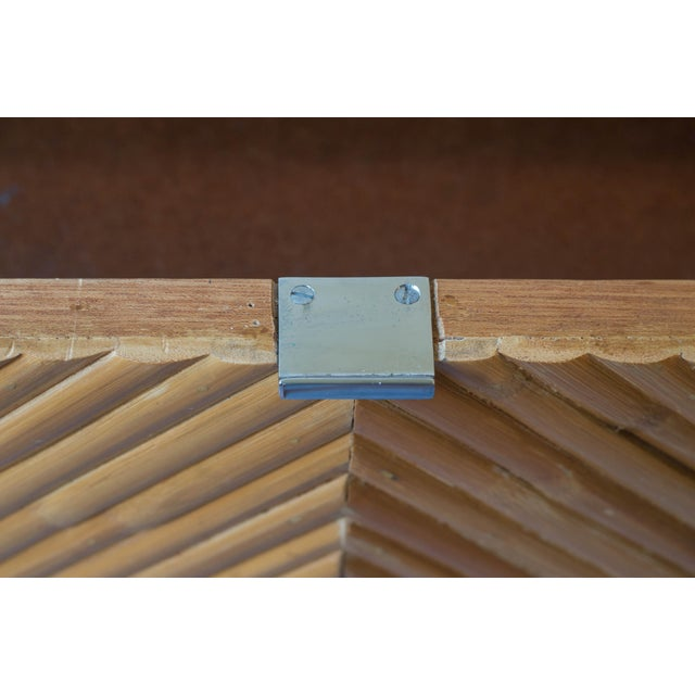 Bamboo Milo Baughman Split Bamboo Rattan Nightstand Table For Sale - Image 7 of 7