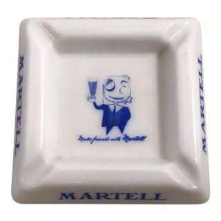 Vintage Martell Milk Glass Ashtray