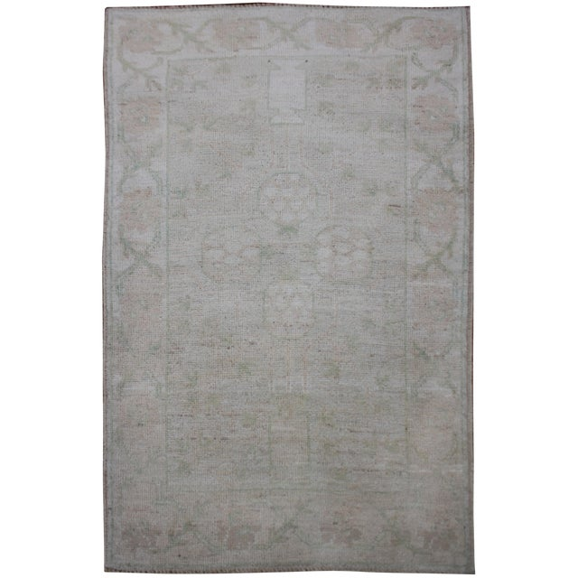 "Aara Rugs Inc. Hand Knotted Oushak Rug - 4'11"" x 3'5"" For Sale"