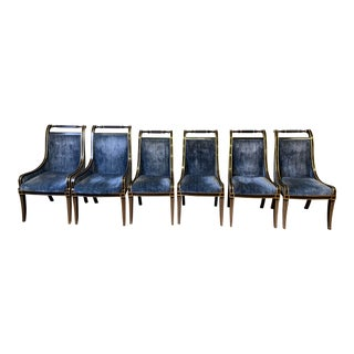 1970s Vintage John Widdicomb Dining Chairs- Set of 6 For Sale