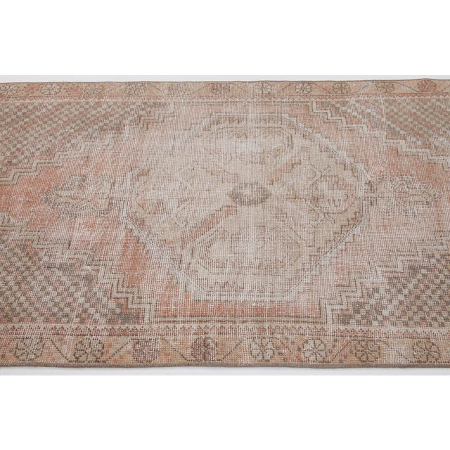 1960s Vintage Distressed Small Area Rug - 3′5″ × 5′4″ For Sale - Image 4 of 6