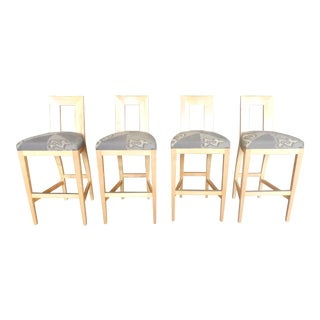 Angelo Donghia Margarita Bar Stools - Set of 4 For Sale