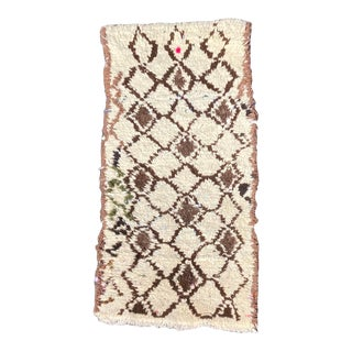Handmade Beni Ourain Wool Rug For Sale