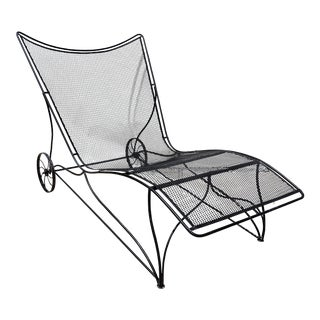 Mid-Century Modern Salterini Patio Chaise Lounge Chair