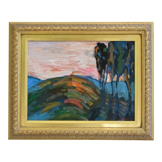 Original Juan Guzman Ojai California Landscape Oil Painting
