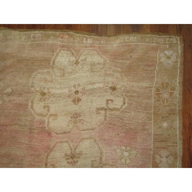 Vintage Turkish Oushak Pink Rug -- 7'8'' X 10'3''