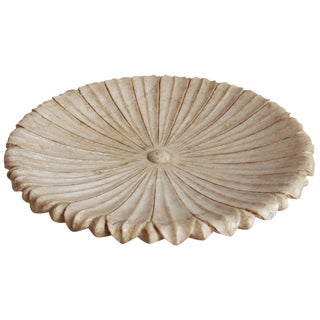 White Marble Lotus Plate For Sale
