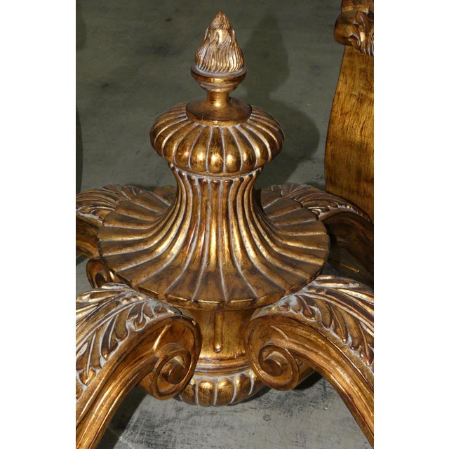 Wood Ornately Carved Gilt Wood Rococo Center Table Base For Sale - Image 7 of 11