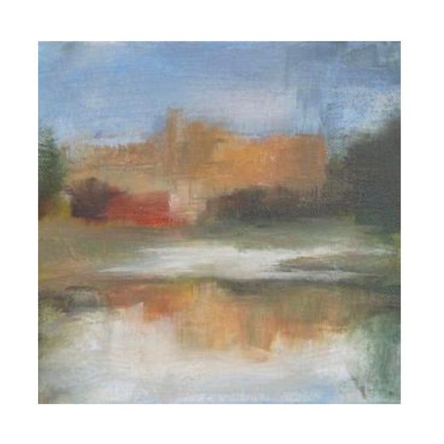 Original Riverscape Painting by Belgian Artist Sylvie Van Hulle For Sale