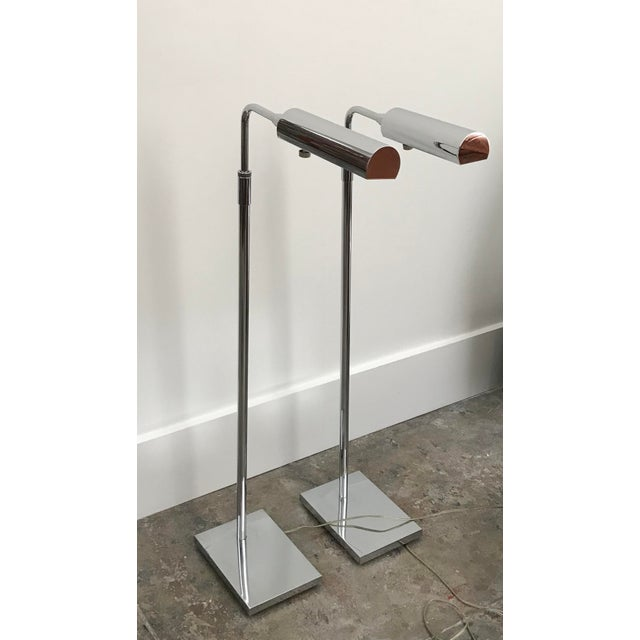Metal Koch and Lowy Metal Pharmacy Reading Lamps - a Pair For Sale - Image 7 of 7