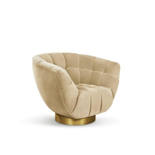 Essex Swivel Chair From Covet Paris For Sale - Image 4 of 5