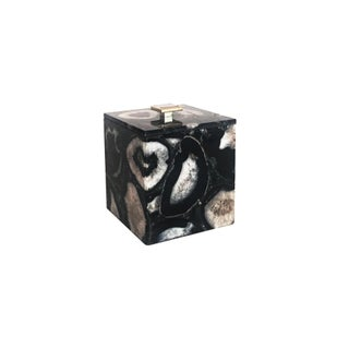Black and White Agate Ice Bucket For Sale