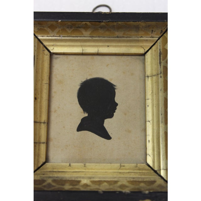Wood Antique Silhouette Miniatures - a Pair For Sale - Image 7 of 9