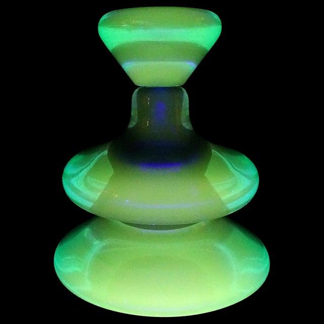 Mid 20th Century Vintage Seguso Vetri d'Arte Murano Sommerso Cobalt Blue Italian Art Glass Perfume Bottle For Sale - Image 5 of 7