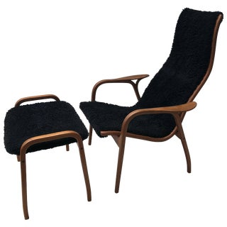 Lamino Chair and Ottoman by Yngve Ekström for Swedese For Sale