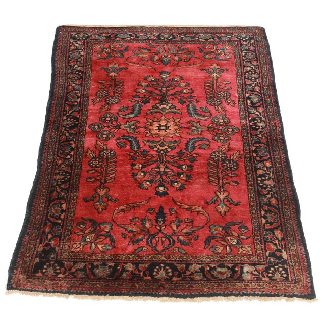 "RugsinDalls Antique Wool Persian Lilihan Rug - 3'6"" X 4'9"" - Image 2 of 2"