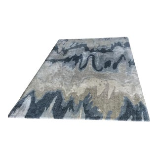 Surya Hand Tufted Blue Abstract Area Rug - 5′ × 8′ For Sale